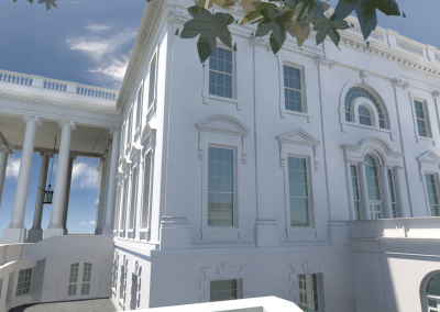 Stantec The Building Information Model (BIM) of the White House in Washington DC.